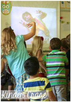 author Debbie Clement visits a Kindergarten classroom. Love this!
