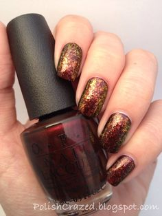 Polish Crazed: Shine of the Times (Essie) Over Royal Rajah Ruby (OPI)