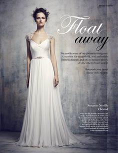 a8576c9cdb80 Brides Magazine July/Aug 2015. Featuring Suzanne Neville gown Cherish Suzanne  Neville Wedding Dresses