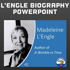 A Wrinkle in Time Author Madeleine L'Engle Biography PowerPoint Love Teacher, Teacher Pay Teachers, Language Arts Worksheets, A Wrinkle In Time, Author Studies, Teaching Materials, High School Students, Teaching Reading, Teacher Resources