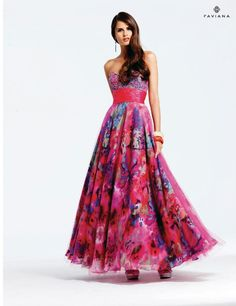 Floral prom dress!(: love this.
