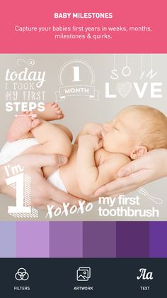 BABY PICS APP - Capture your Pregnancy & Baby Milestone photos by adding our beautifully crafted artwork & personalised text. Download the app now on the App Store.
