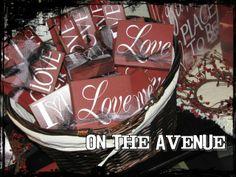 Valentine's Day Blocks - $5.00 - $6.00 www.ontheavenuelogan.blogspot.com
