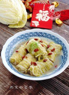 A taste of memories -- Echo's Kitchen: Chinese Cabbage Rolls【肉末白菜卷】