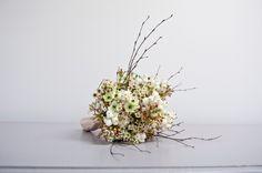Waxflower, Arabicum, twig and Snowberry bouquet Planet Flowers