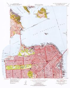 Map of San Francisco, CA 1955   Wallegend