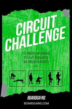 Spice up your workout routine with this circuit challenge. Get your cardio in while doing fun and effective exercises! Fit Board Workouts, Fitness Workouts, Fun Workouts, At Home Workouts, Fitness Games For Kids, Exercise For Kids, Gym Routine For Beginners, Outdoor Activities For Adults, Bootcamp Ideas