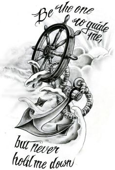 A tattoo I'm looking at. Some color in the waves and sun, but mostly gray scale