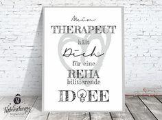 "Kunstdruck ""Therapeut"" mit Humor / typo artprint, fun by Rabenschwarz-Designwerkstatt via DaWanda.com"