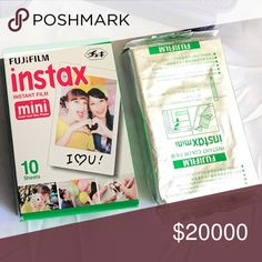 Instax mini films Two instax mini films for sale!!  keeping it on hold for a customer that asked for it that's why the price is so high lol. Fujifilm Accessories