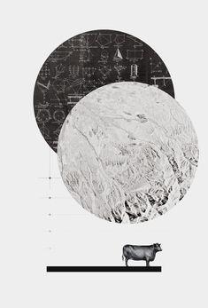 Calculating a Jump over the Moon - Art Print by Anna Pietrzak