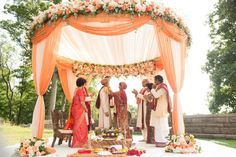 Outdoor Wedding Ceremonies indian wedding mandap - Browse these spectacular ceremony setups from real weddings and prepare to be inspired! Wedding Ceremony Ideas, Wedding Hall Decorations, Wedding Entrance, Outdoor Ceremony, Wedding Table, Wedding Receptions, Wedding Themes, Garden Wedding, Nikah Ceremony