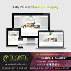 ONE WEBSITE FITS ALL At Iconic Creators, we provide responsive website designing services with a minimum of resizing, preparation and scrolling-across an extensive array of strategies from mobile to desktop computer.