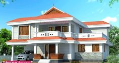 House Design Kerala Style Best Small House Designs, Latest House Designs, Simple House Design, Modern House Design, Contemporary House Plans, Modern House Plans, Small House Plans, Traditional Style Homes, Traditional House Plans