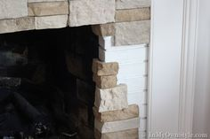 Info and how to for a faux stone product to reface a fireplace (class a fire safe for use on fireplace) or to create a stone wall. Great write up by the DIY blogger / homeowner