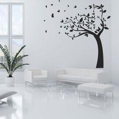 Stickers arbre papillons