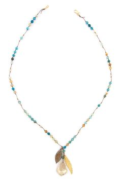 Chan Luu - Aqua Fire Agate Pendant Mix Necklace, $205.00 (http://www.chanluu.com/necklaces/aqua-fire-agate-pendant-mix-necklace/)
