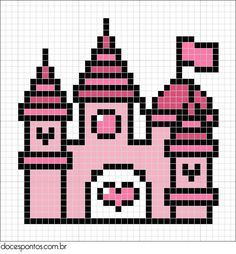 Castle / hama bead perler pattern - Bügelperlen