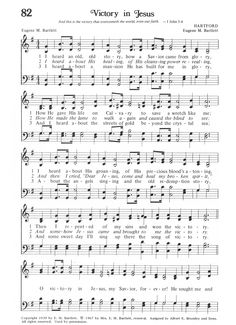 Victory in Jesus Lyrics, Chords, and Sheet Music (I heard ...