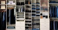 Wow, this is a good example of organization--would my closet ever be this clean??...... Shoe Shelf In Closet, Closet Under Stairs, Reach In Closet, Closet Space, Closet Storage, Closet Organization, Shoe Shelves, Narrow Closet, Closet Shelving