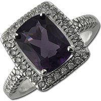 14K White Gold Amethyst and 3.85 ct Diamond Engagement Ring$499More details