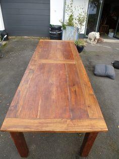 280 cm großer Esstisch aus altem Teak Holz von Kolonialantik.de auf DaWanda.com