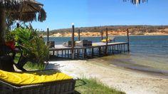 Vista da área de tomar sol na Lagoinha.