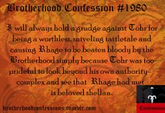 BDB Confession #1980