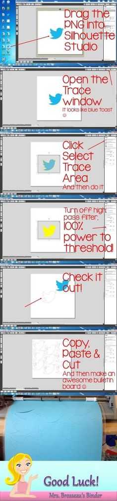 How to cut out any shape for your bulletin boards using the Silhouette Cameo. Great ideas for any classroom! by lorie