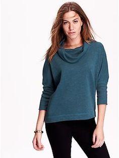 Women's Funnel-Neck Sweatshirts   Old Navy