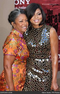 Taraji P. Henson and her mom! Wow, both of them are gorgeous!