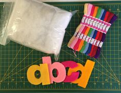 Do-It-Yourself Hand-Stitching Kit. Each kit includes 26 Felt Lowercase Alphabet Letters, Embroidery Floss, and Polyester Stuffing. by LoveGrammaBaby on Etsy