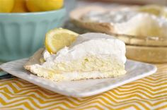 "Lemon Angel Pie  This is one of my favorite ""go-to"" desserts. Easy to make and a crowd please. Pinned it so I can always find the recipe!"