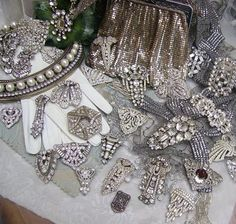 Art Deco Clips and Brooches  Once again, I was meant to live like the Dowton Abbey crew.