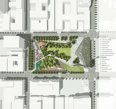 pershing square park renovation - Google Search Infrastructure Architecture, Landscape Architecture Model, Garden Architecture, Architecture Plan, Los Angeles Usa, Public Square, Urban Park, Master Plan, Outdoor Events