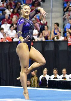 LSU's McKenna Kelley performs her floor exercise during the finals of the NCAA Women's Gymnastics National Championship on April at Chaifetz Arena in St. Lsu Gymnastics, Gymnastics Poses, Amazing Gymnastics, Gymnastics Pictures, Artistic Gymnastics, Gymnastics Leotards, Gymnastics Flexibility, Senior Photos Girls, Athletic Women