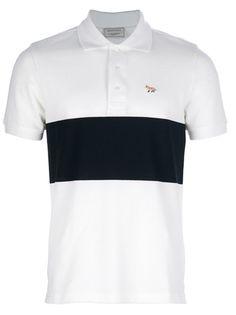 MAISON KITSUNE Camisa Polo Branca.