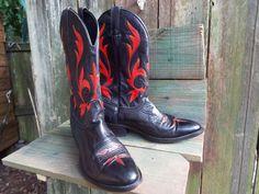 Hand Painted Mens Shoes/ Boots. .Laredo Cowboy.. by JJsBottega