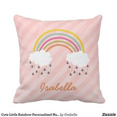 Personalised Embroidered Cute Fox Cushion Add name change colours