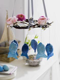 Ovos de Páscoa decorados como peixinhos | Eu Decoro