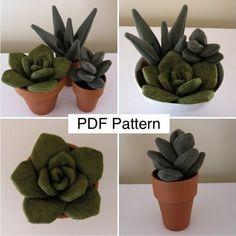 Felt Succulent Patterns – Yahoo Image Search Results diy flanel - Cactus DIY Felt Flowers, Diy Flowers, Crochet Flowers, Fabric Flowers, Paper Flowers, Felt Diy, Felt Crafts, Fabric Crafts, Diy Crafts