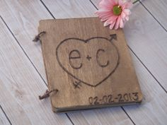 Small Rustic Wood Guest Book. $24.50, via Etsy.