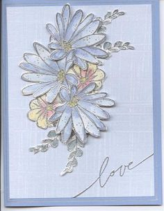 Blue Bouquet for Mom using Stampin Up In Full Bloom
