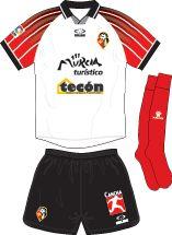 CF Murcia of Spain home kit for 2003-04.