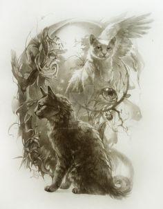 Jayfeather and Halfmoon by Flame-of-inspiration.deviantart.com on @DeviantArt