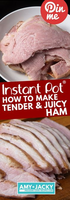 Super easy No-Fuss method to cook Juicy Tender Instant Pot Ham with delicious Golden Honey Pineapple Ham Glaze. Make this smoky, sweet, tangy, savory pressure cooker ham a favorite family holiday tradition! Instant Pot Ham Recipe, Instant Pot Dinner Recipes, Instant Recipes, Pressure Cooker Ham, Instant Pot Pressure Cooker, Pressure Cooking, Instant Cooker, Healthy Recipes, Cooking Recipes