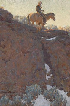 Seeking superior fine art prints of The Lone Trail by Maynard Dixon? Landscape Art, Landscape Paintings, Landscapes, Western Landscape, Oil Paintings, Native American Art, American Artists, Maynard Dixon, Cowboy Art