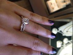 A twisty wedding ring - nice look!
