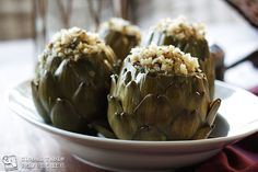 Stuffed artichokes. One of our favourites and good for you! │ #VisitMalta visitmalta.com