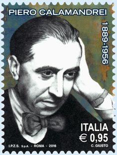 Francobollo commemorativo di Piero Calamandrei, nel 60° anniversario della scomparsa